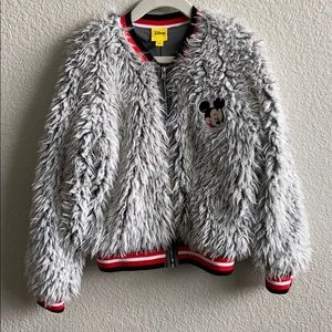 Mickey Mouse Faux Fur jacket. Size small. Girls.